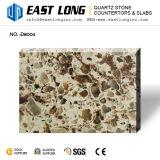 Superfície contínua de quartzo artificial com a pedra Polished para projetado
