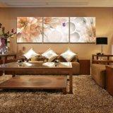 I fiori moderni della pittura di parete di vendita calda delle 3 parti che verniciano la maschera decorativa domestica di arte della parete verniciata sulla casa della tela di canapa stampa Mc-197
