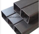 fuerza de Hight del tubo del cuadrado de la fibra del carbón 3k