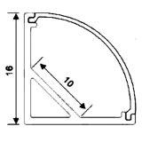 Perfil de alumínio de LED de canto, perfil de LED de alumínio, perfil de alumínio a luz de LED