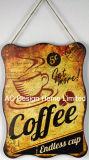 Piastra Premium della decorazione della parete di stampa del metallo di disegno del caffè