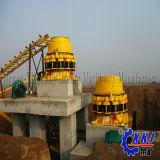 石灰岩、花こう岩、玉石等の堅い材料のための大きい容量の高性能の円錐形の粉砕機機械