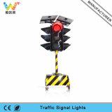 Indicatore luminoso d'avvertimento solare del segnale stradale del carrello del Portable 300mm