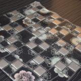 Плитка мозаики металла смешивания красивейшей плитки картины цветка стеклянная
