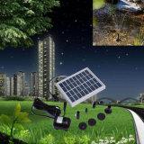 Solar-Angeschaltene Pumpe schwanzlose Gleichstrom-Sonnenenergie-Brunnen-Pool-Wasser-Pumpen-Garten-Pflanzen, die Installationssatz-Solarteich-Pumpen-Installationssatz 9V 2W wässern