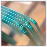 Plat/a déplié la glace Tempered de 3-19mm avec l'impression Polished de Silk-Screen de trous de bords