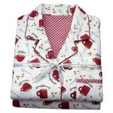 Les pyjamas de flanelle de coton à 100 % fixe