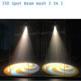 350w 17r de lavado de punto de haz de iluminación de la etapa 3 en 1