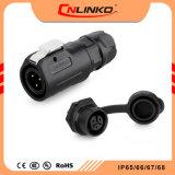 Cnlinko Lp20 3pin 240V Plastikstecker-Kontaktbuchse-elektrischer Unterwasser-Verbinder IP65/IP67