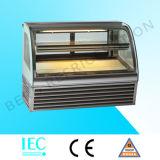 Kleiner kalter Nahrungsmittelbildschirmanzeige-Kostenzähler-Plätzchen-Bildschirmanzeige-Kuchen-Schaukasten-Kühlraum