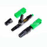 FTTH Sc/APC conector de montaje rápido rápida del conector de fibra óptica monomodo.