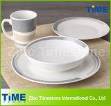 16pcs imprimé en porcelaine céramique dernier dîner ensemble de la vaisselle