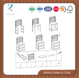 Présentoir en bois personnalisé avec 5 étagères