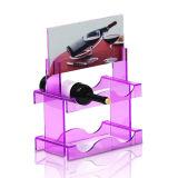 Suporte de monitor de acrílico promocional com dois andares do vinho