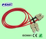 G652D Smまたは50/125のmmのシンプレックスかデュプレックスLC Sc St FC APC Mu MTRJのコネクターのピグテールのファイバーのパッチ・コード