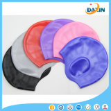 Men Women Waterproof Silicone Protective Ear Swimming Caps