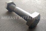 Boulon de goujon d'ASTM A193 B7 avec la noix hexagonale lourde d'A194 2h