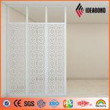 Los paneles de aluminio tallados CNC de la pantalla del profesional de Ideabond