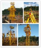6ton Qtz80-6010上キットのタワークレーンの構築のタワークレーン