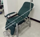 Silla de la donación de sangre del equipamiento médico de los muebles del hospital con la bomba de la infusión