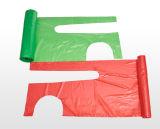Avental descartável plástico descartável do PE do uso de limpeza dos aventais do PE