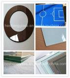 verre Tempered carré gris-clair de 8mm