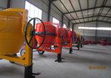 12.35 Pés cúbicos de misturador de cimento móvel Diesel do projeto da capacidade do cilindro