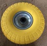 3.50-4 La PU sólida hizo espuma neumático de la carretilla de la mano
