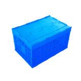 Rectángulo plegable plástico expresado uso de los mariscos de Agruiculture con la tapa