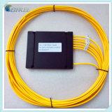 Acoplador fundido óptico de fibra del rectángulo 1X4 del ABS