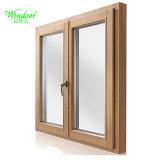 Двойной Закаленное Galss наклона и поворота дверная рама перемещена из алюминия окна