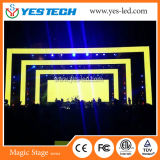 Cor P3/P4 Fase Flexível Cortina de LED com o peso leve