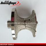 Roda de perfuração de mão de diamante soldada por vácuo para modelagem de borda de pedra