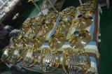 Tecla 4 Doble Cuerno francés de latón oro campana desmontable.