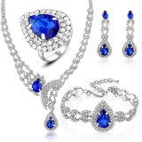 Reeks van de Juwelen van de Oorring van de Ring van het Kristal van de Juwelen van de Manier van de Vrouwen van de luxe de Recentste Model