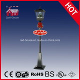 Festa Christmas LED Decoration Street Lamp con Snow e Music