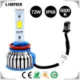 Heiße Auto-Aufschriftbeleuchtung des Verkaufs-LED 2D 3D 4D 5D mit 36W 3800lm H4 LED Auto-Scheinwerfer-und LED-Streifen-Licht