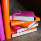 2016 новая изготовленный на заказ тетрадь крышки кожи PU дневника журнала подарка A11 A5 с пер