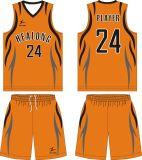 Healong Cutomデザインセットされるロゴの昇華チームバスケットボールのジャージ