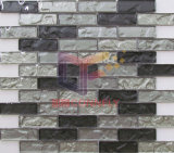 Resfrie a pavimentação em mosaico de vidro preto Strip folhas (CFS722)