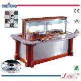 Barra di insalata quadrata di marmo di lusso del buffet del ristorante di Commercail del certificato del Ce