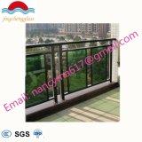 Balcón de acero inoxidable barandilla de Vidrio Cristal de diseño y la baranda de balcón con alta calidad
