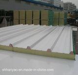 軽量の絶縁された鋼鉄PUサンドイッチパネルの屋根ふきは壁パネルにパネルをはめる