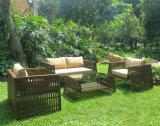 Il sofà accatastabile del rattan esterno del giardino ha impostato (WS-15592)
