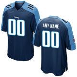 Дешевые индивидуальные любое имя любой № любой логотип команды Мужчины Женщины дети Теннесси Elite игра Королевский синий белый цвет команды американского футбола футболках NIKEID