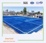 ISOおよびSGSの証明書が付いている青いカラーフットボールの人工的な草、総合的な泥炭の芝生