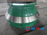 Manteau de produits d'acier de manganèse de pièces de rechange de broyeur de cône concave
