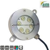 18W indicatore luminoso subacqueo messo del raggruppamento dell'acciaio inossidabile IP68 LED