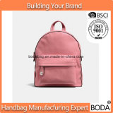 Подгонянный мешок школы Backpack розовых женщин PU кожаный сь (BDX-171113)
