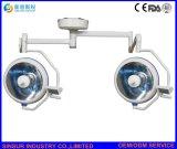 Werkende Lampen van het Plafond van het dubbel-Hoofd van het Halogeen van Shadowless van de Apparatuur van het ziekenhuis de Chirurgische Koude